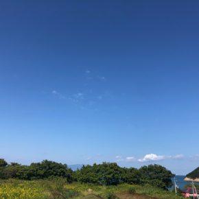 東かがわ市馬篠(北山)向こう岸に海